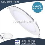 green illumination led smd 12w 850lm Dimmable led round panel light with ce rohs hot sale