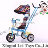 4 in 1 children tricycle for sale,high quality baby tricycle bike, double pushbar, with music player and light
