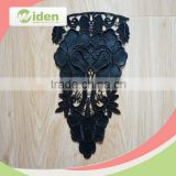 Polyester and PU Quality Black Color Fancy Embroidery Lace Collar
