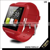 Gear cheapest price u watch u8 android 4.0 smart watch android wear with camera control function