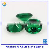 Synthetic Heat Resistant oval green Nano Spinel stones for wax setting