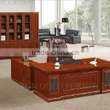 MDF surface with Veneer L Shape Painted Office Table (SZ-OD515)