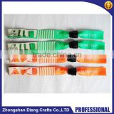 Custom colorful woven wristband with high quality plastic locking