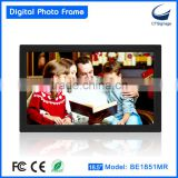 18.5 inch digital rectangle acrylic photo frame big screen BE1851MR-FD support photo/ music/video playback