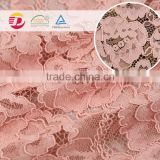 wholesale factory hot sale high quality pink cord lace embroidery fabric for accessories