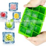 2016 hot sale food grade FDA and LFGB colorful silicone ice tray