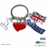 Metal Keychain Letter Key Ring Customized Keychain machine to make key chains supply in china