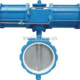 pneumatic butterfly valve in wafer and flange type,scotch yoke type actuators