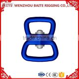 China made 4KN breaking force aluminum double swivel Bolt ,blue swivel aluminum ring , snap hook bag Parts & Accessories