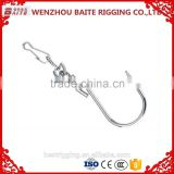 China Supplier Hardware Steel Zinc Plated Pig Nose Ring With S Hook and 4293W Hook in Rigging Manufacturer