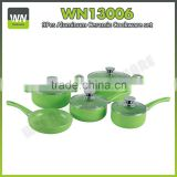 Non stick stone marble cookware ceramic cookware set with different size fry pan,sauce pan,casserole sets