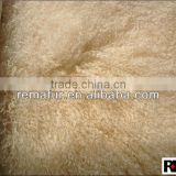 Natural White Tibetan Lamb Fur Plate Tibet decoration Carpet