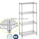 NSF certification adjustable chrome metal material wire shelf/shelving manufacture in China                                                                                                         Supplier's Choice