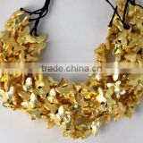 AAA Beautiful Natural 24k Gold Plated Copper Rondelle Butterfly Shape Beads Finding Beads 7 inch 8X12mm Matte Finish Beads