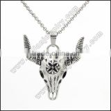 stainless steel casting cow skull pendant                                                                                                         Supplier's Choice
