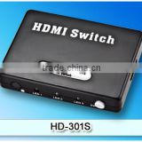 full HD video and audio transmission /720p, 1080i and 1080p/3 in 1 output mini HDMI switch