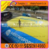 Customized inflatable jump air bag for skiing,inflatable stunt bag