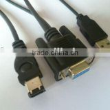 high quality and low price FireWire DB9F-1394 6M+USB AM CABLE