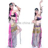 Hot Pink Stylish Fringe Hip Scarf sexy tribal belly dance bra                                                                         Quality Choice