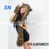 fashionable winter animal spirithood hat for hot women and girls                                                                         Quality Choice