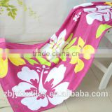 100% Cotton Velour Customized reactive printed beach towels cartoon beach towel ---pink flower
