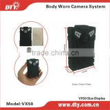 2015 shenzhen hot 32G police body worn police portable dvr camera for Law enforcement,VX50