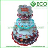 4 Layers Macaron Pyramide Display Stand Packaging