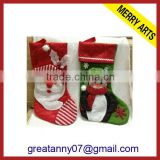 2013 new christmas gifts knit fleece promotion christmas stockings wholesale