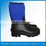 men high heel rubber safety work boots/work shoes/steel toe work boots