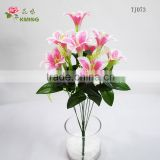 artificial 9 heads costume plastic lily flower