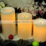 battery operated flameless led paraffin wax christmas candle light tea light christmas vners decoration