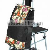 Stair climbing collapsable trolley cart