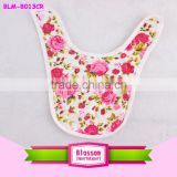 China baby bib manufacturer 2016 yarn dyed new arrival soft textile cotton absorbent bandana baby bib cute floral baby bibs