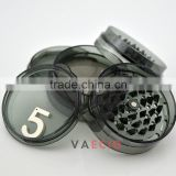 High Quality plastic factory sales weed grinder acrylic customized 3 or 5 parts 63mm acrylic herb grinders