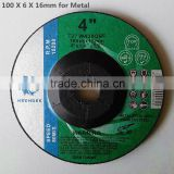 offer CHINA 100x6x16mm depressed center grinding disc 4 inch abrasive grinding wheel for general metal
