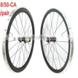 Mixed alloy carbon wheels 38mm front 50mm rear clincher bicycle wheel with Novatec hub