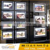 Double Sides Real Estate Agent Sign LED Window Display Magnetic Light Pockets Shadow Box LED Light Kit