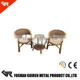 Bamboo Finish Rattan Chair with steel inside with look rattan treatment rattan chair