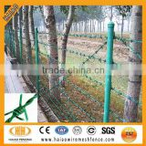 High quality hot dipped galvanized barbed wire post