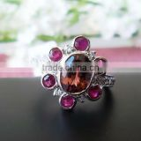 Latest Fashionable 925 Sterling Silver Tourmaline Jewelry Ring