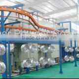 Semi automatic powder coating line for aluminium wheel