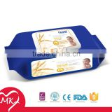 Custom soft touchness baby delicate skin care mini canister wet wipes
