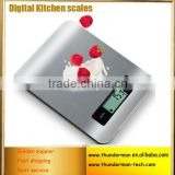 5kg Stainless steel digital kitchen food scale with LCD display for kitchen use,food,fruit,vegetable