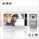 "9"" TFT-LCD screen ETE door unlock intercom system video door phone automatic door bell"