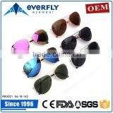 Brand design cheap round metal sunglass Unisex classic sunglasses UV400 for Promotion Sale
