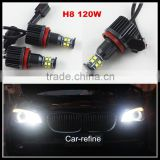 2016 New Error free led Marker Fog Headlight H8 120W C REE LED Angel Eyes for BMW X5 E70 X6 E71 E90 E91 E92 M3 E60