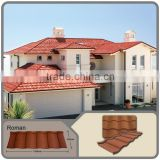 high quality best roofing options with stone/stone coated ZN-AL corrugated roofing panels/color sand coated steel roofing sheets
