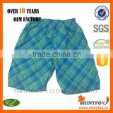 4 way stretch 100% polyester hot selling custom brand beach shorts