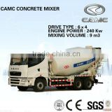 CAMC Concrete mixer truck (Mixing Volume: 9m3, Engine Power: 336HP) of concrete mixer semi trailer