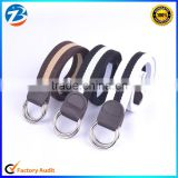 Fashion Style Low Price Wholesale Original Double Loop Buckle Men's Stock Fabric Belts